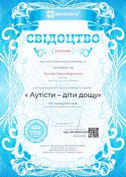 Свідоцтво про публікацію матеріала №DD500380