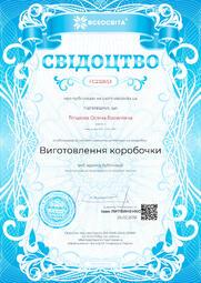 Свідоцтво про публікацію матеріала №FC232653