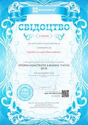 Свідоцтво про публікацію матеріала №GJ892099