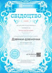 Свідоцтво про публікацію матеріала №JI163095