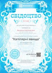 Свідоцтво про публікацію матеріала №RG714020
