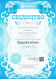 Свідоцтво про публікацію матеріала №TO080564