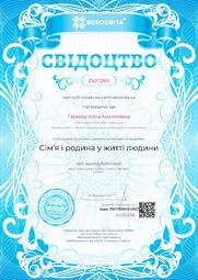 Свідоцтво про публікацію матеріала №ZS072851
